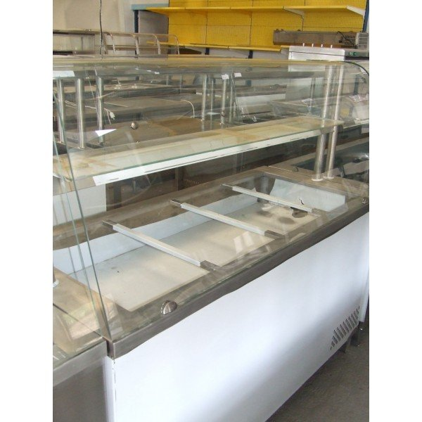 4x GN 1/1 inch-long counter cold Cooling racks